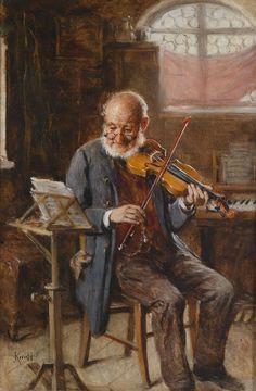 Hermann Kern (1838-1912)  — The Violin Player (1724x2695)