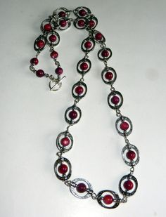 Amethyst and Silver Antique Necklace by CloudNineDesignz on Etsy, $32.00