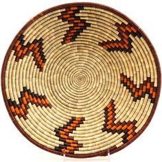 Handwoven out of Millet and Raffia, these Ugandan baskets are tightly woven compared to some other Ugandan baskets - making them a great value. Willow Weaving, Basket Weaving, Hand Weaving, Native American Baskets, Tapestry Crochet, African Art, Rustic Decor, Crochet Patterns, Arts And Crafts