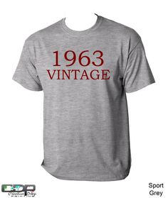 50th Birthday Tshirt 1963 Antique Can by CreativeDropPrinting