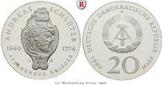 RITTER DDR, 20 Mark 1990, Schlüter, J. 1634, PP #coins #numismatics