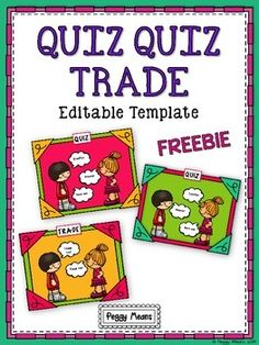 uiz Quiz Trade is a wonderfully engaging cooperative structure developed by Dr. Spencer Kagan.  This Editable Template will enable you to create your own QQT cards to use with your students - any grade level - any subject.  Why QQT? - Students love it! - Students are engaged! - Students are up and moving! - It's a Brain Break! - Great review and no papers to grade