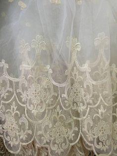 Verkauf aus weißer Braut Spitze Stoff Retro gestickte von lacetime
