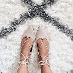 Add edge to simple flats with this pointed leather-look pair. Comes with ghillie lace-up tie the ultimate wardrobe necessity. Man made Suede. Spot clean only. Flat Shoes, Shoes Heels, Pumps, Crazy Shoes, Me Too Shoes, Mode Shoes, Lace Up Flats, Suede Flats, Pointy Flats