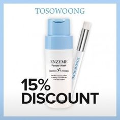 Nettoyant + Brosse : [TOSOWOONG] Spot Pore Brush & Enzyme Powder Wash Cleanser - Wishtrend USD29.70