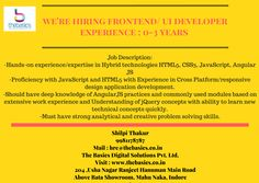 Interviews for. Ui Developer, Job Posting, Job Description, Application Development, 3 Years, Knowledge, Technology, Tecnologia, Consciousness