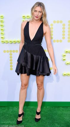 Maria Sharapova shows mile-long legs at LA movie premiere | Daily Mail Online