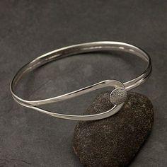 Silver Bracelet - http://www.etsy.com/listing/96619660/modern-sterling-silver-bracelet-sterling #SterlingSilverBracelets