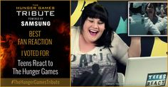 I voted for Teens React to <em>The Hunger Games</em> as Tribute for The Hunger Games Tribute Awards #TheHungerGamesTribute  tribute.thehungergames.movie