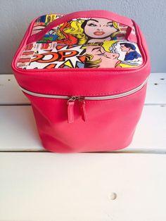 Pop art love Leather Case, Pop Art, Lunch Box, Love, Handmade, Bags, Leather Pencil Case, Amor, Handbags