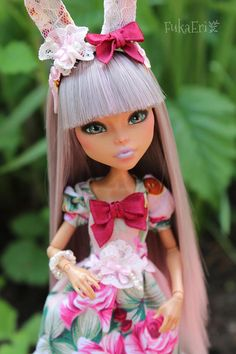 TOTAL SALE Monster High Custom Repaint Art doll OOAK Cleo De