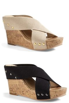 Cute wedges: I'll take a pair in each color, please!