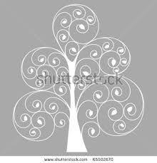 hand drawn stylized tree