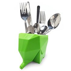 Lovely Elephant Kitchenware Cutlery Drainer Rack Creative...