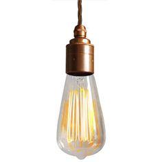 large vintage squirrel light bulb pendant