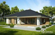 Hiacynt III - Dobre Domy Flak & Abramowicz Home Garden Design, Home And Garden, House Design, Model House Plan, Bungalow House Plans, Gazebo, Architecture Design, Sweet Home, New Homes