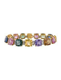 60.41ctw Sapphire and Diamond Bracelet
