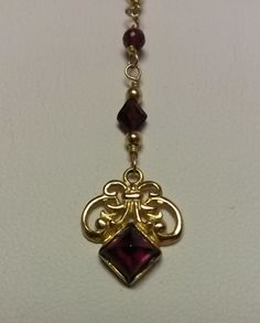 18 Estate 14k 585 Yellow Gold Ruby Garnet Link by ThomasBrothers, $189.00