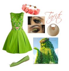 """Tafiti"" by jenjen802 ❤ liked on Polyvore featuring Notte by Marchesa, Forever 21, disneybound and moana"