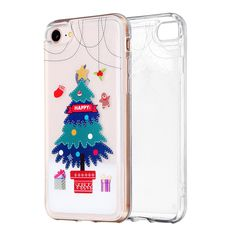 Compatibility Apple Compatible Model For iPhone Plus Material TPU Feature Soft Shockproof Type Back Cover Pattern Christmas Tree Sierra Leone, Ghana, Sri Lanka, Belize, Mauritius, Seychelles, Congo, Montenegro, Cute Phone Cases