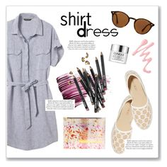 """""""Shirt Dress"""" by takemybreatheaway ❤ liked on Polyvore featuring Banana Republic, Yves Saint Laurent, Jimmy Choo, Bobbi Brown Cosmetics, Clinique, Ray-Ban and shirtdress"""