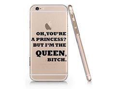 "Supertrampshop - ""You're a Princess but Im a Queen, Bitch"" - Cover Iphone 6 PLUS 6s PLUS Full Protection Durable Transparent Plastic Case (NT001.6PLUS) SUPERTRAMPshop"