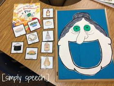 Book of the Week: I Know an Old Lady Who Swallowed a Pie! with fun activity for Thanksgiving from Simply Speech. Pinned by SOS Inc. Resources @sostherapy.