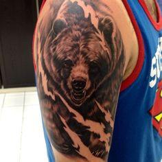 01 3d Bear Tattoo