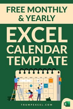 Here is a simple dynamic Excel monthly and yearly calendar that you can download and use. It's dynamic Excel calendar so you can change the year and the month and it would automatically update to give you the calendar for that specific month/year. I want to make sure that it can easily be printed in a single page so that you can use it as a printable Computer Lessons, Computer Tips, Microsoft Excel Formulas, Excel For Beginners, Train Information, Excel Calendar Template, Excel Hacks, Powerpoint Tutorial, Free Education