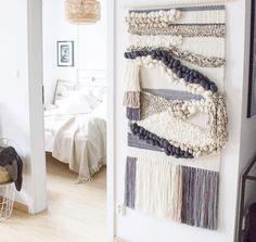 weaving loom wall art
