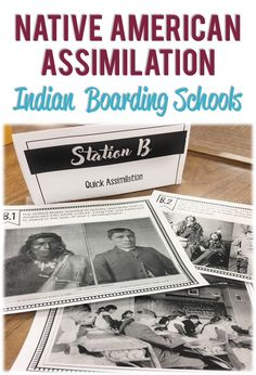 In this activity your students will analyze primary sources to better understand the assimilation of Native Americans through the use of boarding schools. Easy to implement, great for middle school of upper elementary. Social Studies Notebook, Social Studies Worksheets, Social Studies Classroom, Teaching Social Studies, Teaching Us History, Teaching Geography, History Education, Teaching Tools, Native American Children