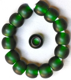 12mm Round Czech Glass Beads with Large Hole Teal by BeadRhapsody