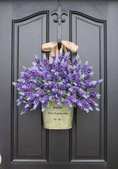 Flower Garden Lavender entry decor