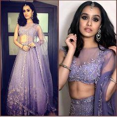Who looks stunning in a Sabyasachi Lehenga, Shraddha Kapoor or Alia Bhatt? Designer Bridal Lehenga, Indian Bridal Lehenga, Indian Bridal Outfits, Red Lehenga, Indian Dresses, Bollywood Lehenga, Sabyasachi, Bollywood Stars, Patiala Salwar