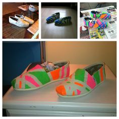 I customized my toms. Painters tape, neon fabric paint, sponge brushes. Cost me about $5 to do.