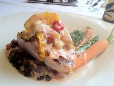 Grilled Salmon With Blood Orange Beurre Blanc - by Chef Dan Bauer