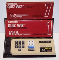 Quiz Whiz! How lame our games were back then, but it kept me occupied for hours on road trips in the Ford Taurus!