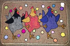 Ewe and Eye Woolens and Such Animal Rug Hooking Designs Rug Hooking Designs, Rug Hooking Patterns, Rug Patterns, Pattern Ideas, Wool Mats, Wool Rug, Locker Rugs, Animal Rug, Punch Needle Patterns