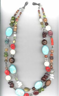 Multicolor Semi-precious Necklace Create a colorful multi-strand necklace to coordinate with many wardrobe pieces. Designed by Molly Schaller for Bead Gallery Handmade Beaded Jewelry, Handcrafted Jewelry, Beaded Necklace, Strand Necklace, Bijoux Diy, Jewelery, Jewelry Necklaces, Beach Jewelry, Necklace Designs
