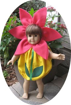 American Girl DOLL CLOTHES 18 in FLOWER Halloween costume is great for dress up fun and Halloween