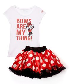 Look at this Red Minnie 'Bows Are My Thing' Tee & Tutu on #zulily today!