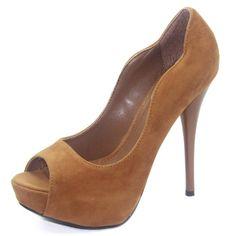Amazon.com: Qupid Womens Neutral-35 Peep Toe Platform Shoes: Shoes