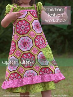Apron dress tutorial and free pdf pattern.