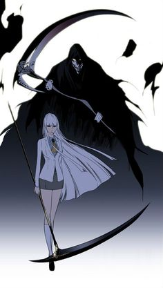Noblesse - Seira's Soul Weapon, the Death Scythe Fantasy Characters, Female Characters, Anime Characters, Dark Fantasy Art, Dark Art, Anime Oc, Manga Anime, Anime Scythe, Weapon Concept Art
