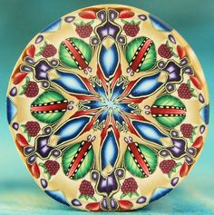 LARGE Polymer Clay Kaleidoscope Cane - 'Berries and Cream' series