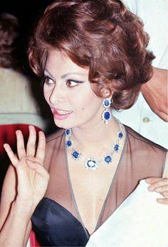"""Beautiful"" color photo of Sophia Loren. Great actress."