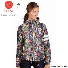 ba0fd39d0ef5a Kuk Bomber Jacket Women Basic Coats Floral Casaco Feminino Chaqueta Mujer  Zipper Hooded Spring Autumn Outerwear