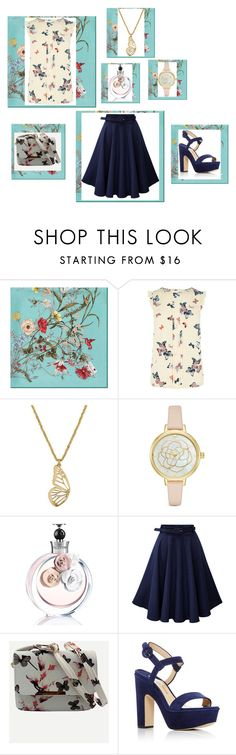 """""""butterfly"""" by azumellica ❤ liked on Polyvore featuring Gucci, Oasis, Lucky Brand, Kate Spade, Valentino and Paul Andrew"""