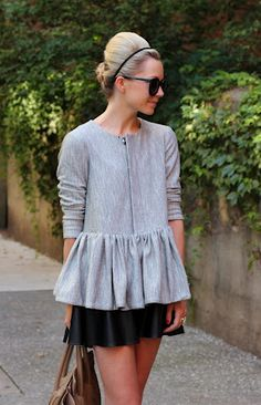 Tip #3: Dress it up, dress it down, a peplum adds whimsical femininity to any occasion. #fall2012 www.fashioncompassion.ca