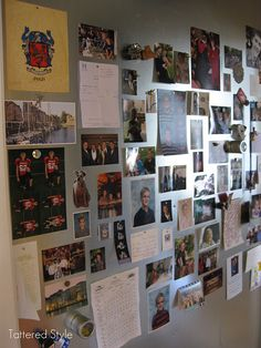 "Magnetic ""Life Board""--an easy spot in the home to post photos and memorabilia"